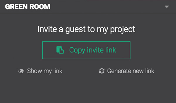 Invite a guest to your Lightstream Green Room