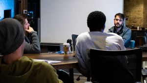 Co-founder Dan Trocchio in a meeting with Lightstream staff