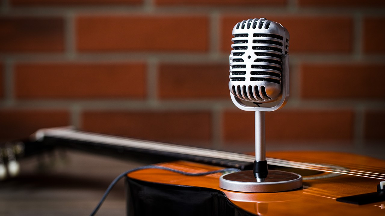 Guitar and Microphone for Live Streaming